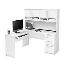 L Desk w/Ped & Hutch, 8828712