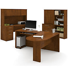 Embassy Peninsula L-Desk Office Set, OFG-EX1083