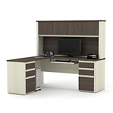 Prestige Plus Reversible L-Desk with Hutch, 8828564