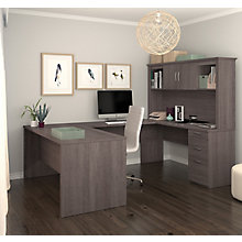 "Logan Configurable U-Shaped Desk with Hutch - 66""W x 95.5""D, 8827657"