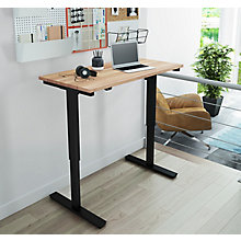 "Adjustable Height Desk with Solid Wood Top- 48""W, 8827674"