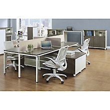 "Element 59""W Four Person Workstation with Wall Storage , 8808069"