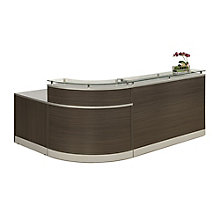 "Glass Top Reception Desk - 79""W x 63""D, 8808187"