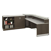 Curved Reception Station with Storage, 8808190