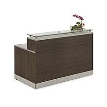"Glass Top Reception Desk - 63""W x 32""D, 8808199"