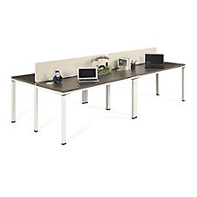 "Four Person 48""W Workstation with Desktop Dividers, 8808204"