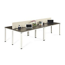 "59""W Four Person Workstation with Desktop Dividers, 8808205"