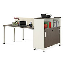 "48""W Two Person Workstation with Storage and Desktop Divider, 8808207"