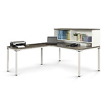 """72""""W L-Desk with Hutch , 8808218"""