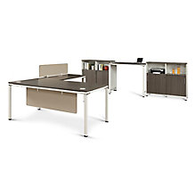 "Element Executive 71""W L-Desk Set with Standing Height Desk, 8808220"