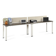 "Two Benched 59""W Desks with Desktop Dividers , 8808224"