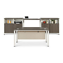 Element Executive Desk Set with Two Storage Cabinets, 8808226