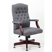 Widmore Button-Tufted Executive Chair in Fabric, 8804128