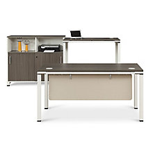 Element Executive Desk Set with Storage Cabinet, 8808067