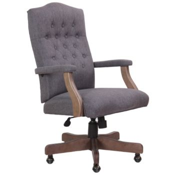 Boss Office Products Driftwood Captain/'s Guest Arm Chair