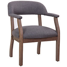 Widmore Captain's Chair in Fabric with Driftwood Frame, 8805194