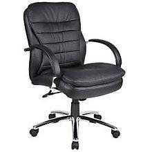 Habanera Conference Chair with Chrome Frame, BOC-AHAB62C-BK