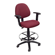 Fabric Drafting Stool with Arms, 8803529