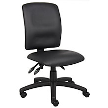 Armless Task Chair in Faux Leather, 8806910