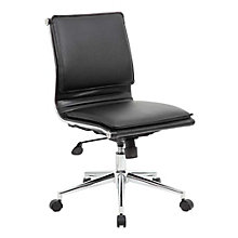 Armless Task Chair in Faux Leather, 8807770