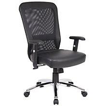 Task Chair in Mesh and Faux Leather, 8806909