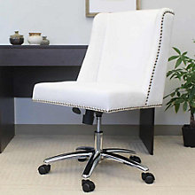 Armless Task Chair in Velvet with Nail-head Trim, 8807777