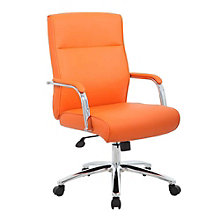 Chrome Frame Task Chair in Faux Leather, 8807774
