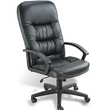 Burke High Back Blended Leather Executive Chair with Knee Tilt, 8803633