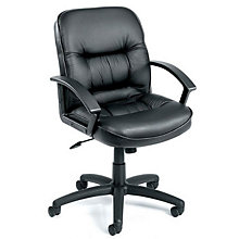 Burke Mid-Back Computer Chair in Bonded Leather , 8803634