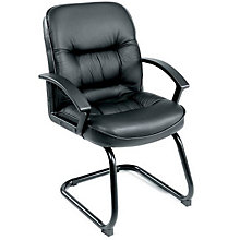 Burke Guest Chair in Genuine Leather, 8803635
