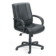 Black Vinyl Mid Back Executive Chair, BOC-B7906