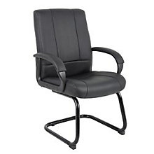 Black Vinyl Guest Chair, BOC-B7909