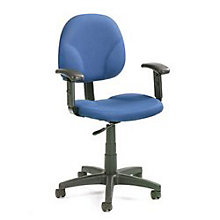 Task Chair with Adjustable Arms, BOC-B9091BE