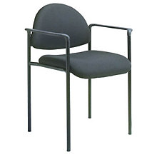 Rounded Back Fabric Stacking Chair, 8803675