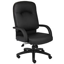 Black Vinyl High Back Executive Chair, BOC-B7401