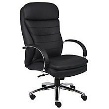 Black Vinyl Executive Chair with Chrome Frame, BOC-B9221