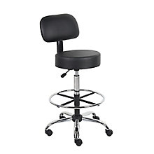 Medical Vinyl Armless Stool with Foot Ring, 8813886