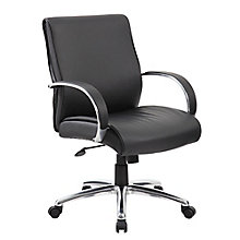 Peck Mid Back Conference Chair with Aluminum Arms, 8814118