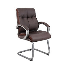 Ramsey Padded Bonded Leather Cantilever Base Guest Chair, 8814121