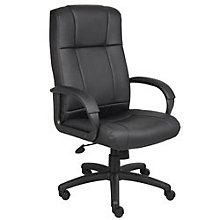 Black Vinyl High Back Executive Chair, BOC-B7901