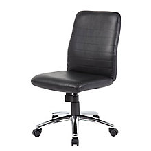 Armless Retro Task Chair in Vinyl, 8807844