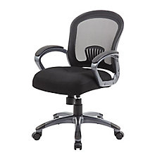 Mid Back Task Chair with Loop Arms in Mesh, 8807848