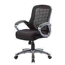 Ribbed Back Task Chair with Loop Arms in Mesh, 8807850