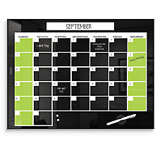 "Monthly Glass Calendar Board  36""W x 24""H, 8808142"