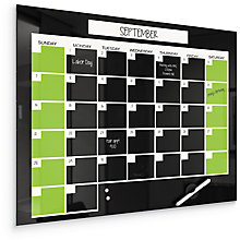"Monthly Glass Calendar Board  24""W x 18""H, 8808141"