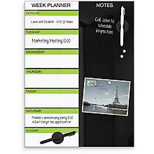 "Weekly Glass Calendar Board 18""W x 24""H, 8809225"
