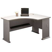 "Series A Right Bow L-Desk - 60""W, BUS-10114"