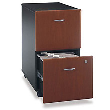 "Series A Fully Assembled Two Drawer Mobile File - 15.75""W, BUS-10113"