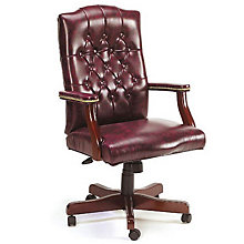 Widmore Traditional Tufted Vinyl Executive Chair, 8828586