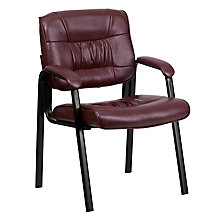 Burgundy Leather side chair, 8811702